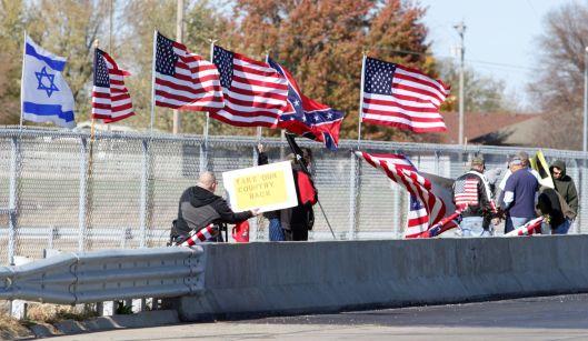 On an overpass on U.S. Highway 50 in Warrensburg, Missouri - November 14, 2015.