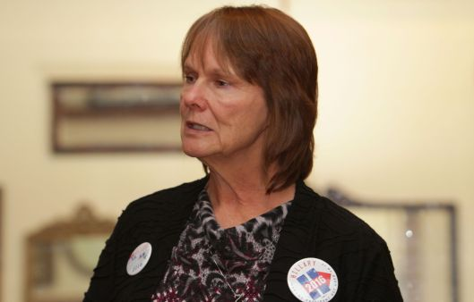 Karen Meador, a volunteer for Hillary Clinton's 2016 presidential campaign in west central Missouri.