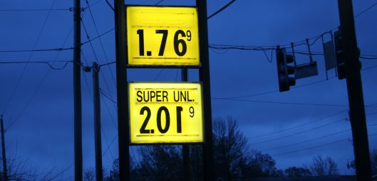The retail price of gasoline in west central Missouri - November 21, 2015.