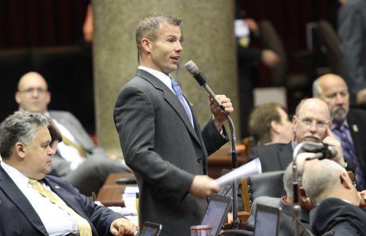 Representative Rick Brattin (r) [2013 file photo].