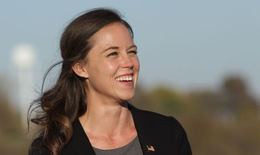 Ashley Beard-Fosnow, the Democratic Party candidate in the 55th Legislative District [2015 file photo].