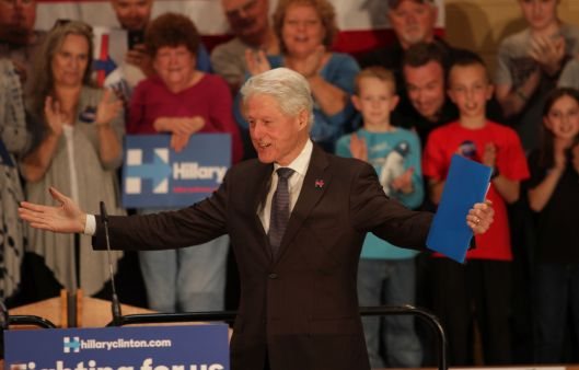 Bill Clinton in Springfield, Missouri - March 11, 2016.
