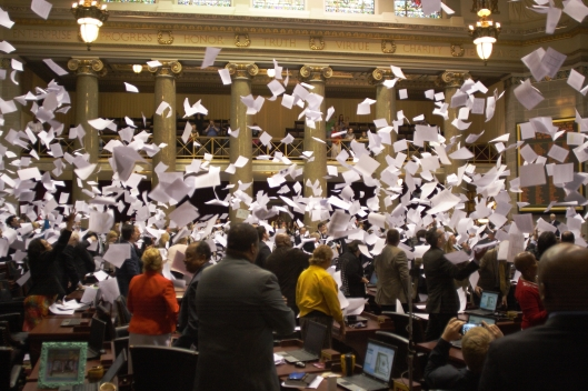Missouri House at the close of the legislative session - May 13, 2016.