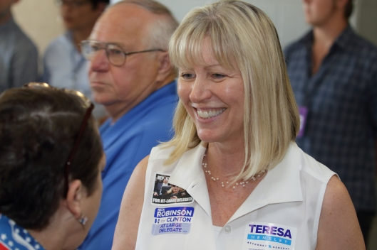 Teresa Hensley, a candidate for Attorney General.