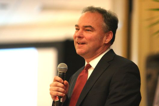 Senator Tim Kaine [May 2012 file photo].
