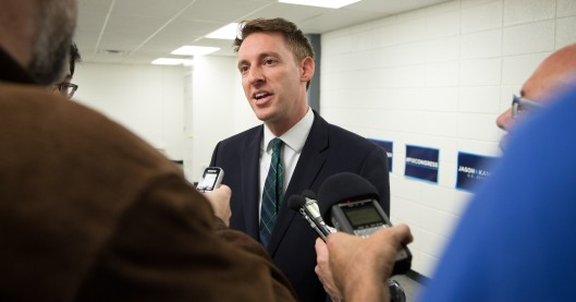 Jason Kander (D) - October 7, 2016. photo: Jerry Schmidt