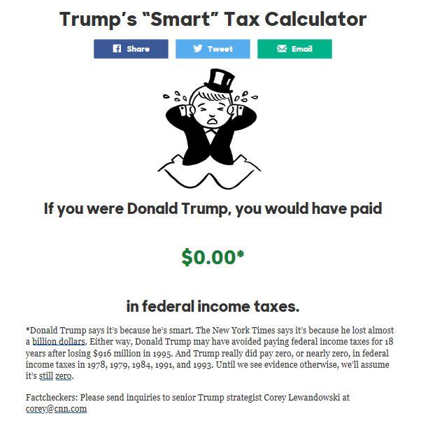 donald trump calculator