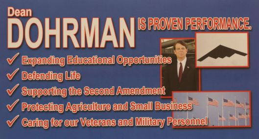 A mailer from Dean Dohrman (r) - November 5, 2016.