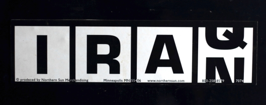 A bumper sticker.