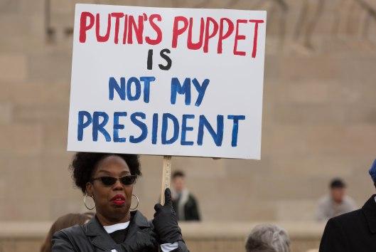 Putin's puppet is not my president.