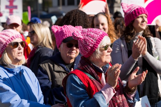 Pink hats.