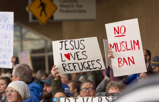 Jesus loves refugees.