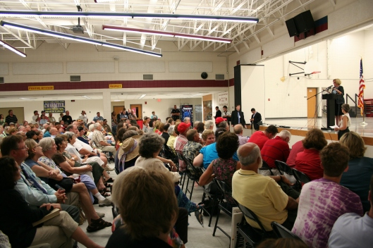 Senator Claire McCaskill (D) - speaking at a town hall in Jefferson City, Missouri - August 26, 2009.