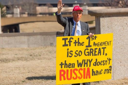 """""""Сделать Америку великой Снова"""" - March 4, 2017."""
