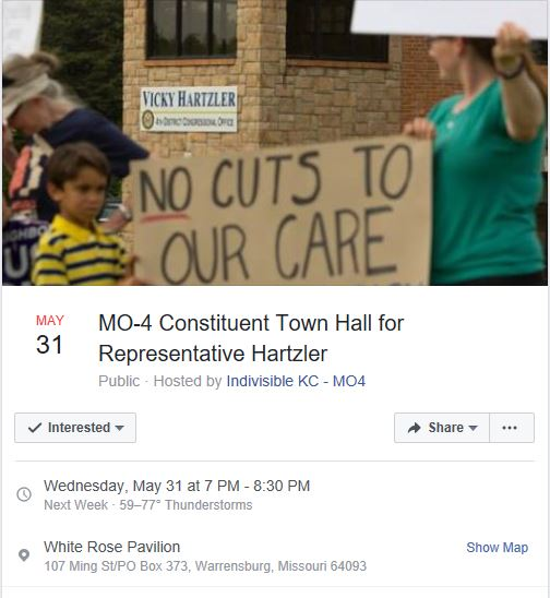 4th Congressional District open public town hall – with or without Rep. Vicky  Hartzler (r) ff9354b758dca